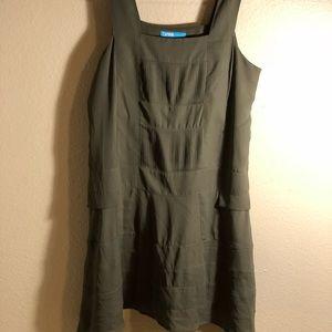 Nanette Lenore army green apron dress